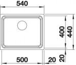Blanco 521840 мойка ETAGON 500-IF сталь нерж.без кл.авт