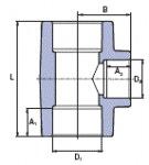 Ekoplastik Тройной переход 50х40 STKR05040X
