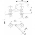 Armatura 301-390-00 STANDARD (рукоятка B)