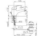 Armatura 5512-824-00 ECOKRAN (ручка Azuryt)