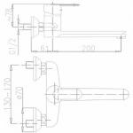 Armatura 580-920-00 CYRKON (ручка хром-сатин)