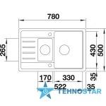 Blanco LEGRA 6S COMPACT 521307