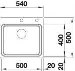 Blanco 521748 ETAGON 500-IF/A с кл.авт