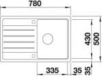 Blanco 522205 LEGRA 45S