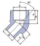Ekoplastik Колено 45 20 (В/Н) SKO12045XX