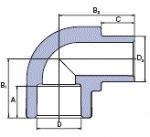 Ekoplastik Колено 90 25 (В/Н) SKO125XXXX