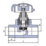 Ekoplastik Проходной вентиль 20 SVE020XXXX