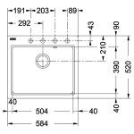 Franke MRG 610-58 графит (114.0502.828)