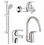 Grohe 123242K Euroeco bath + kitchen bundle