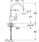 Grohe 32917DC0 Minta OHM sink C-spout