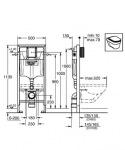 Grohe 38929000 Rapid SL комплект 4-в-1 с клавишей Arena Cosmopolitan, хром
