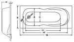 Koller Pool Delfi 180х80 +сифон A51CRM + ножки