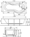 Koller Pool Euphoria R\L 170*90