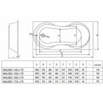 Koller Pool Malibu 150x70  +сифон A51CRM + ножки