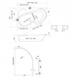 Koller Pool Montana 150x105 R/L  +сифон A51CRM + ножки