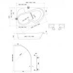 Koller Pool Montana 170x105 R/L +сифон A51CRM + ножки