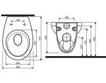 Kolo Комплект стеллажа с унитазом Idol 99068-000