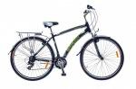 Optimabikes 28 HIGHWAY AM   Vbr   Al с багажн. черно-зелен.  2015