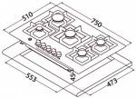 Perfelli Design HGM 7530 INOX SLIM LINE