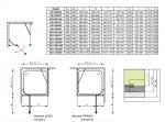 Radaway 32444-01-01NL Torrenta KDJ 100/L (левая, хром/прозрачное)