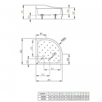 Radaway 4S99400-03 KORFU A 90