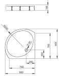 Radaway 4T99155-03 PATMOS B 90