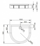Radaway 4Z19035-03 N DELOS P 100x90