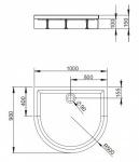Radaway 4Z19150-03 N DELOS P 100x90  + панель