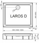 Radaway SLD81217-01LAROS D1200 x 800
