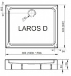 Radaway SLD91017-01LAROS D1000 x 900