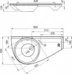 Ravak Avocado L/R XJ1L1100000/XJ1P1100000