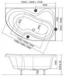 Ravak Rosa II  170x105 L/R C221000000/C421000000