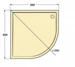 Sanswiss WMR55090004 MARBLEMATE Піддон 900х900