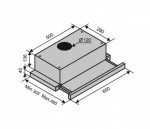 Ventolux GARDA 60 INOX (620) BK GLASS