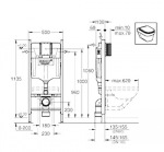 Villeroy-Boch 56351001 TUBE+9M21C101 TUBE+38840000 Rapid SL+3855800M Rapid SL+37131000 Grohe+38732000 Skate Cosmopolitan